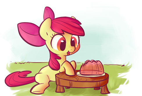 Apple Bloom enjoys a dessert by Bill Cosby