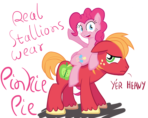 Big Macintosh carries Pinkie Pie