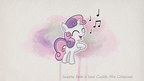 Sweetie Belle is best Cuddly Mini Composer