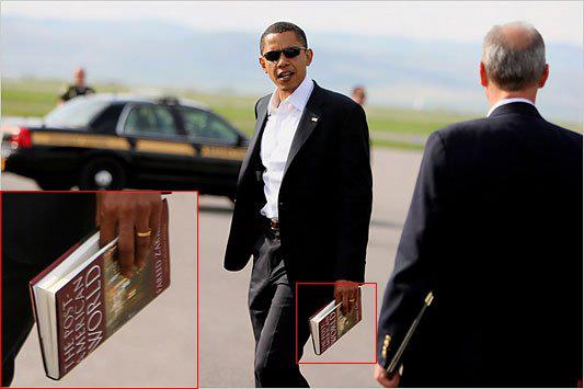 The name of the book Obama is holding is The Post-American World