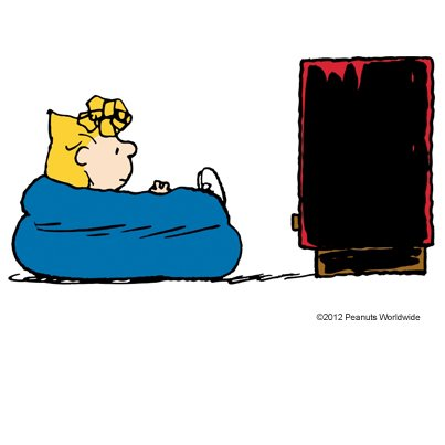 Sally Brown watches horror movies on a blood red TV