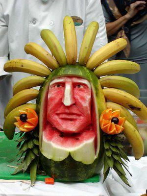 Watermelon chief with banana headdress