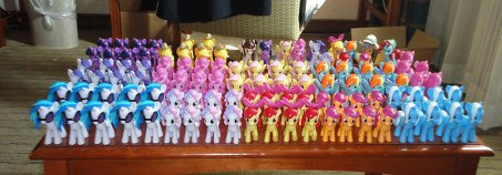 All the ponies made for Everfree Northwest make... The Great EFNW Pony Army!