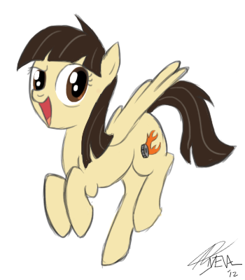 Because I squee'd so hard from seeing Sibsy in the finale, I've been meaning to draw her pony Wild Fire for a while now