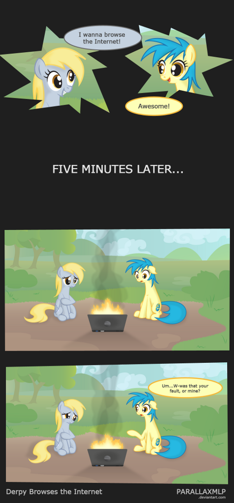 Derpy Browses the Internet