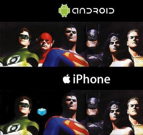 iPhones do not support Flash, of Justice League or Adobe