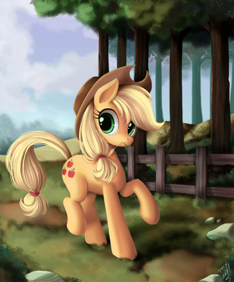 Apparently there's a character called Applejack in the show, I haven't noticed her before. I finished this in 4 hours, I was in a rush and I ended using
