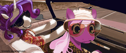 """We Can't Stop Here, Rarity, This is Bat Country,"""