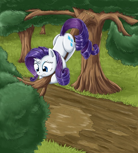 Finally Rarity is the focus and this time her hair and tail actually look like hair
