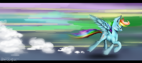 Style and Speed of Rainbow Dash from The Ticket Master