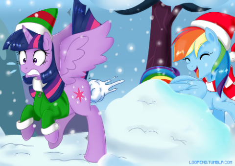 That one moment when somepony tosses a snow ball at your butt and you wish you'd worn pants