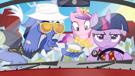 As Discord's attorney, Twilight Sparkle recommends he not go to Tartarus