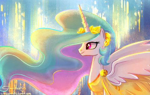 Look at this precious Princess Celestia