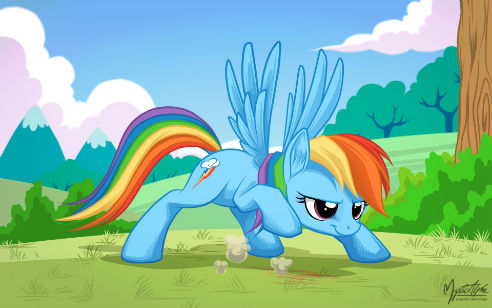 Overused pose is overused Rainbow Dash