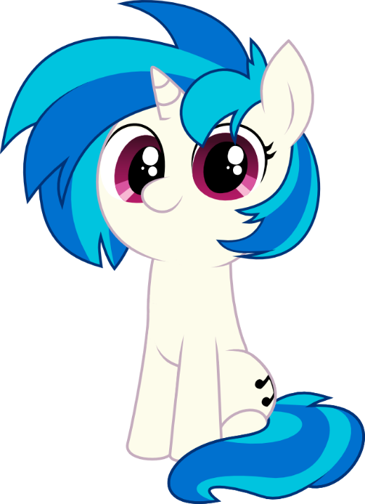 Recently started listening to music by Vinyl Scratch on YouTube