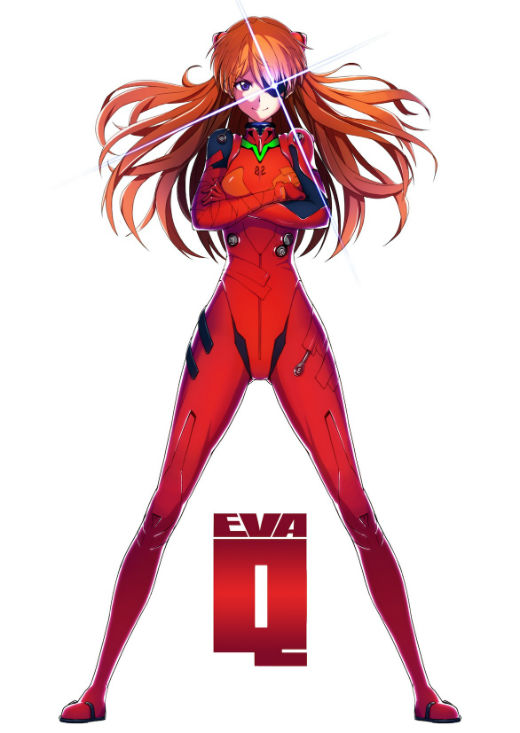 Finished watching the second time, I tried to put color neatly before the while thinking Q Asuka's character really good