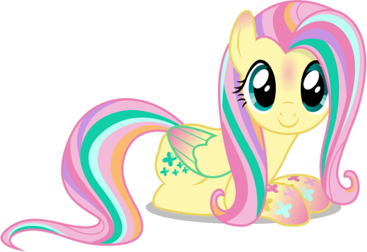 Fluttershy comes from the Rainbowfied photo shoot