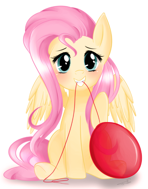 his friend could use some cheering up so he asked for Fluttershy facing the viewer trying to cheer them up