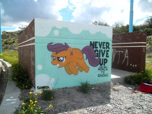 I've painted this one in Trelew, Argentina