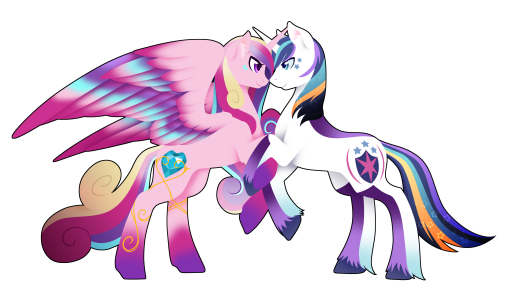 Rainbow Power Princess Cadence and Shining Armor