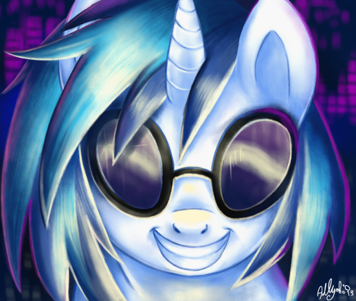 Vinyl Scratch drawn during live-stream session...