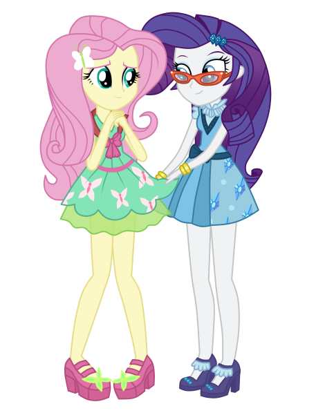 Rarity and Fluttershy - Friendship Games
