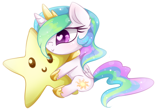 Feel the magic, hear the roar, Chibi Celestia is cute