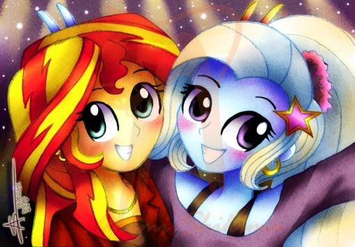 And all The Great and Powerful Trixie and Sunset Shimmer want to do is dance, dance