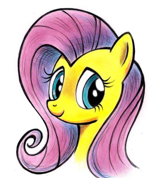 Fluttershy appears in a monthly comic book series based on the animated television show My Little Pony: Friendship Is Magic.