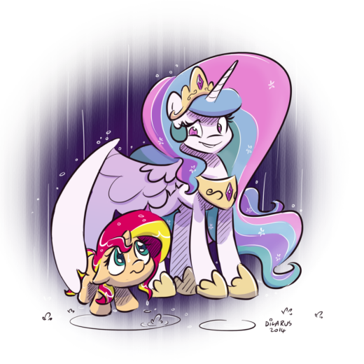 The premise is s...set in Canterlot, Princess Celestia finds a young filly named Sunset Shimmer and takes her in