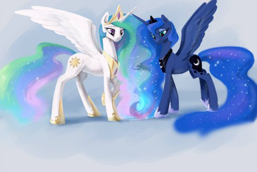 Five-year Smaller Princess Celestia and Luna