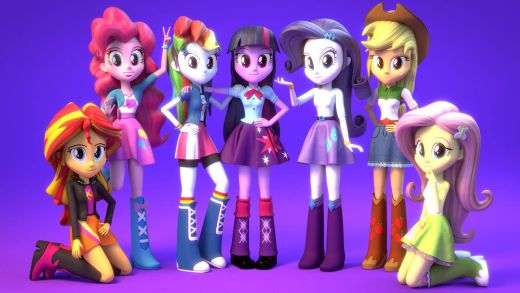 Fixed some details with the hands, changed faces for Rarity and Applejack and doing some natural poses.