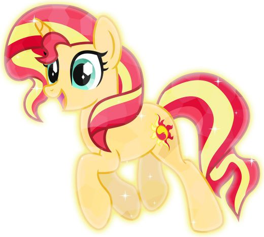 Her mane style is suitable for the theme of crystal ponies, Crystal Sunset Shimmer