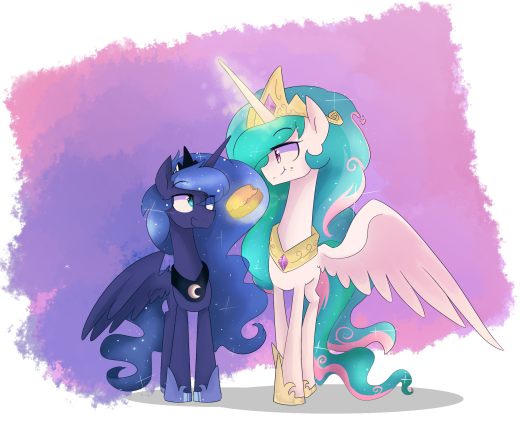 It's been a long time since Celestia and Luna have some sisterly bonding moment drawing
