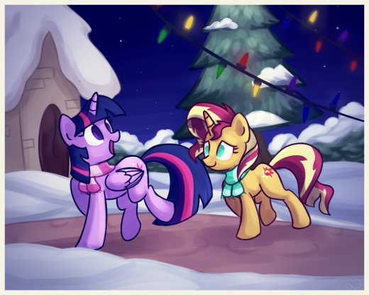 Christmas is a time of joy, Sunset Shimmer