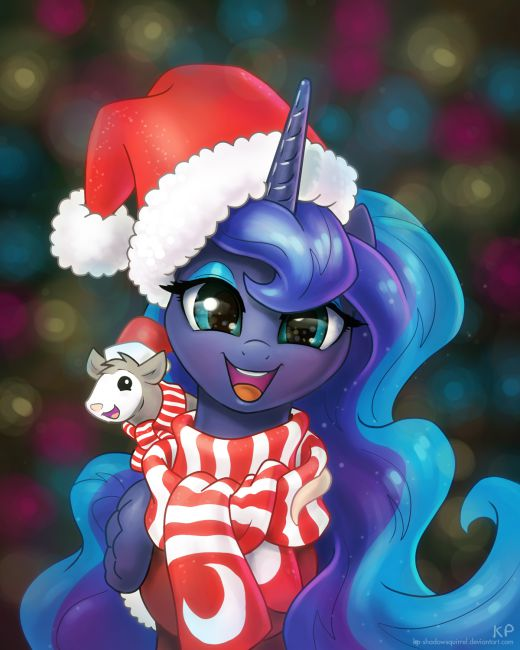 Happy Holidays and a Happy Princess Luna