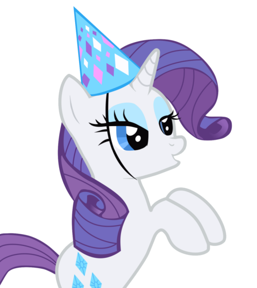here's your party hat, Rarity