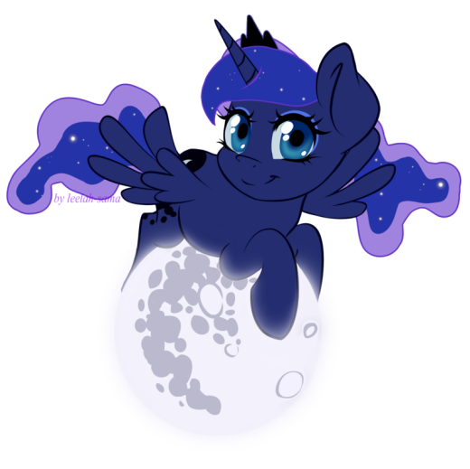 Luna on the Moon