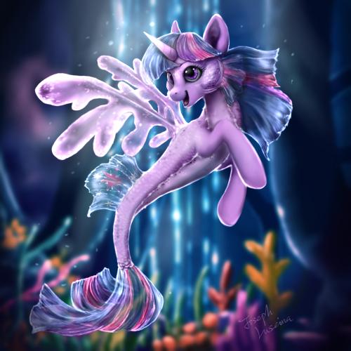 Sea Pony Twilight by GraceBL
