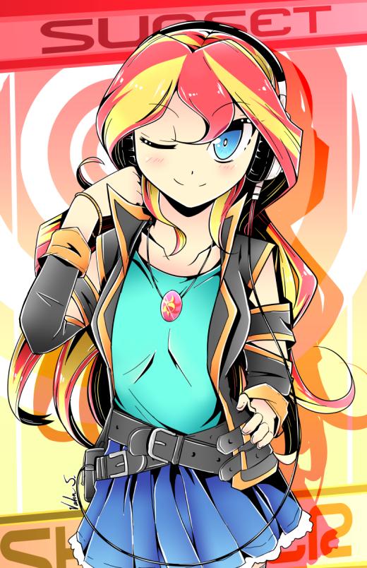 Sunset Shimmer (Manga Style) by Banzatou