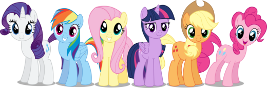 Applejack, Pinkie Pie, Rarity, Twilight Sparkle, Rainbow Dash, Fluttershy