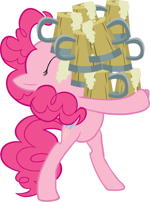 Pinkie Pie holding Cider Vector by scrimp-eh