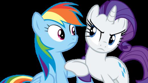 Rarity and Rainbow Dash Vector - Ahem by CyanLightning