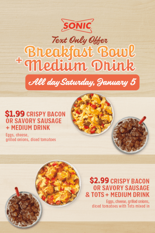 Crispy Bacon or Savory Sausage Breakfast Bowl